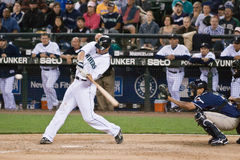 Russel Branyan Mariners. Russel Branyan Baseball player batting for the Seattle Mariners in Safeco Field stadium against the San Diego Padres Stock Images
