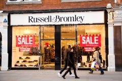 Russel och bromley Royaltyfri Fotografi