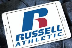 Russell Athletic märkeslogo Fotografering för Bildbyråer