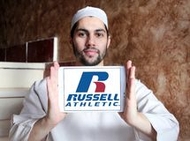 Russell Athletic-Markenlogo Lizenzfreie Stockfotos