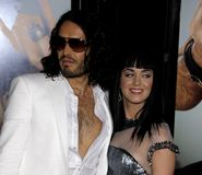Russell Brand en Katy Perry royalty-vrije stock foto's