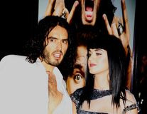 Russell Brand et Katy Perry Image stock