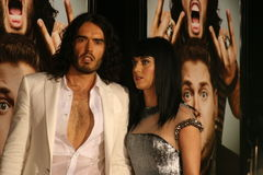 Russell Brand and Katy Perry #1. Russell Brand and Katy Perry attend the premiere of 'Get Him to the Greek' at the Greek Theater in Los Angeles Royalty Free Stock Photo