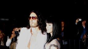 Russell Brand y Katy Perry Fotos de archivo