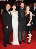 Hugh Jackman, Russell Crowe, Anne Hathaway, Amanda Seyfried, Les Miserables fotografie stock
