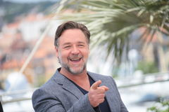 Russell Crowe. Attends the The Nice Guys' photocall during the 69th annual Cannes Film Festival at the Palais des Festivals on May 15, 2016 in Cannes Stock Photo