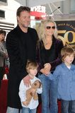 Russell Crowe,Danielle Spencer,Daniel Spencer Royalty Free Stock Photography