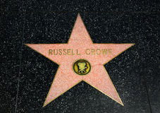 Russell Crowe Star auf dem Hollywood-Weg des Ruhmes stockfotos