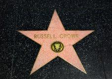 Russell Crowe Star på Hollywood går av berömmelse Arkivfoton
