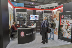 Russell Hobbs company booth at CEE 2015, the largest electronics trade show in Ukraine Stock Image
