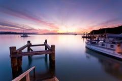 russell solnedgång Fotografering för Bildbyråer
