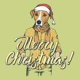 Dog Christmas vector illustration Stock Photos