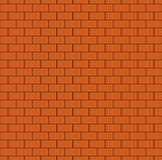 Russet Brick Wall Seamless Pattern. Continuous bricks background. Repeating texture of bricklaying. Simple vector illustration with brickwork Royalty Free Stock Images