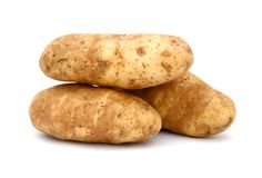 Russet potato. A russet potato (Idaho potato) freshness Stock Photography