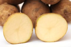 Russet potatoes Stock Image