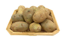 Russet Potatoes In Basket Royalty Free Stock Image