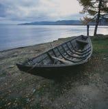 Russia贝加尔湖湖边钓鱼 免版税库存图片
