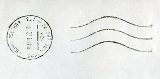 RUSSIA - 2012: black postmark stamp Royalty Free Stock Photography