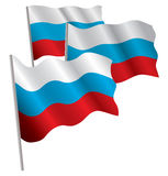 Russia 3d flag. Royalty Free Stock Images