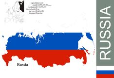 Russia. Flag and area vector illustration vector illustration