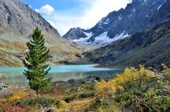 Russia, Altai mountains, lake Kuyguk in autumn Royalty Free Stock Image