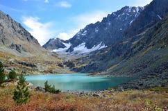 Russia, Altai mountains, lake Kuyguk in autumn Royalty Free Stock Photos