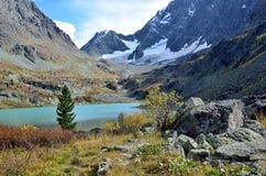 Russia, Altai mountains, lake Kuyguk Kuiguk in autumn Stock Image