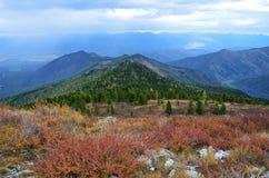 Russia, Altai mountains, nature in autumn near Maralnik village, Ust-Koksinsky district Stock Image