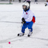 RUSSIA, ARKHANGELSK - DECEMBER 14, 2014: 1-st stage children's hockey League bandy, Russia Royalty Free Stock Photography
