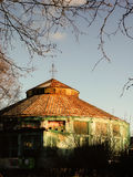 Russia - Arkhangelsk - old ruined derelict circus building Royalty Free Stock Photography