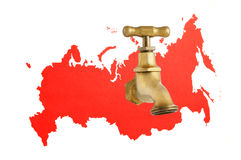 Russia as gas and oil source concept Royalty Free Stock Images