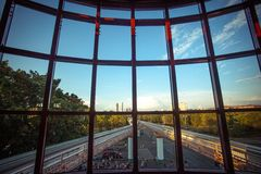 RUSSIA 8 AUGUST 2014, view from the window of royalty free stock photo