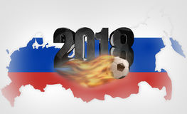 Russia background soccer. russian design 3d render Stock Images