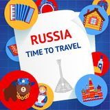 Russia background template Royalty Free Stock Photo