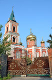 Russia, Barnaul Znamensky a female monastery Royalty Free Stock Image