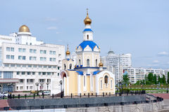 Russia, Belgorod: the church in the city park. Stock Photography