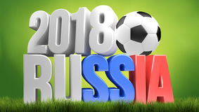 2018 russia big symbol 3d render. Illustration Stock Image