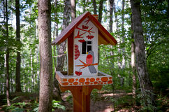 Russia. Birdhouse in the Park at Sparrow Hills in Moscow. 20 June 2016. Stock Image