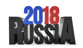 2018 russia black red blue 3d render Royalty Free Stock Photography