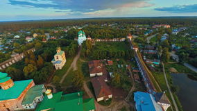 Russia, Borisoglebsk , Yaroslavl region, kremlin (Aerial Drone flights) stock video
