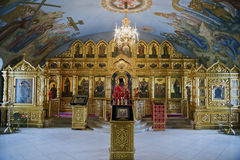 Russia , Cathedral of the Holy Trinity 25 05 2016. Trinity Cathedral Orthodox Cathedral on Museum square in the Volga region city of Saratov. Full name Stock Image