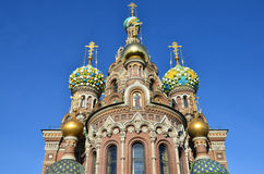 Russia,  the Cathedral of the Savior on blood in St. Petersburg Stock Photos