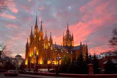 Russia. Catholic Cathedral in Moscow. Cathedral of the Immaculate Conception of the blessed virgin Mary Catholic Cathedral in Moscow . The Cathedral, built in Royalty Free Stock Photo