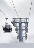 Russia Caucasus. Elbrus ski resort. Winter scenery. Russia. Caucasus. Kabardino-Balkaria. Elbrus ski resort. Winter mountain scenery. Elbrus Mount. Cable-way stock photos