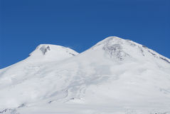 Russia. Caucasus. View on Elbrus Mount. The highest point of Europe from Cheget Mount royalty free stock photo