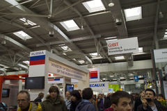 Russia on Cebit 2010. In Hannover, Germany Royalty Free Stock Photos