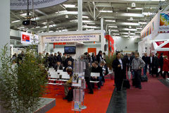 Russia on Cebit 2010. In Hannover, Germany Stock Photo