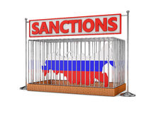 Russia  in a cell Stock Images