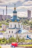 Russia Cheboksary Church Dormition  most Holy Theotokos Stock Photos