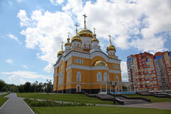 Russia. The Church of Cyril and Methodius in Saransk. View at Russia The Church of Cyril and Methodius in Saransk, Mordovia republic, Russia Royalty Free Stock Image